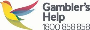 Gambler's Help logo with phone number 1800 858 858