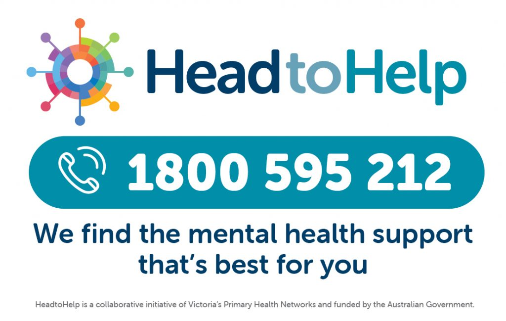 HeadtoHelp logo with phone number 1800 595 212